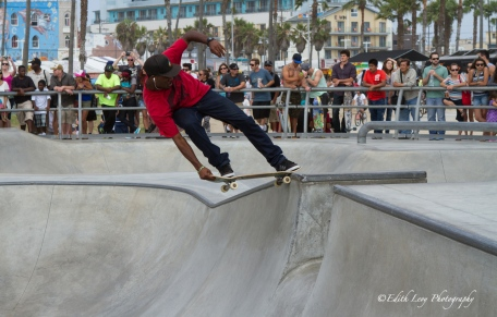 venice beach, California, skateboard, skateboarder, park, beach, pacific ocean, action photography