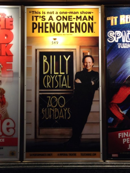 700 Sundays, Billy Crystal, Broadway, New York, Imperial Theatre, iPhone, iPhoneography
