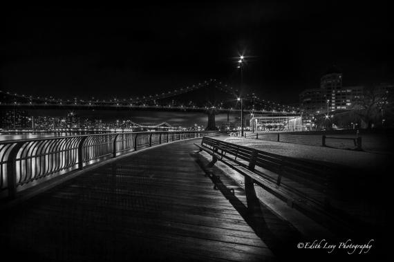 Manhattan Bridge Lights_BW_viewable