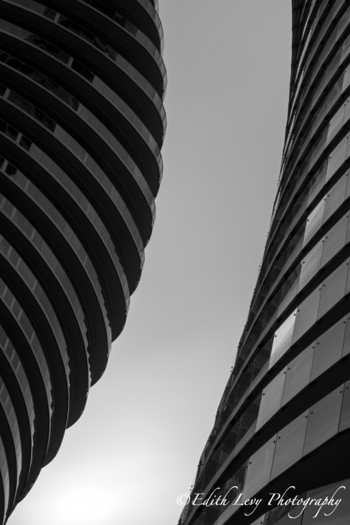 Absolute Towers, Mississauga, Marilyn Monroe Towers, architecture, black and white, abstract, monochrome, long exposure