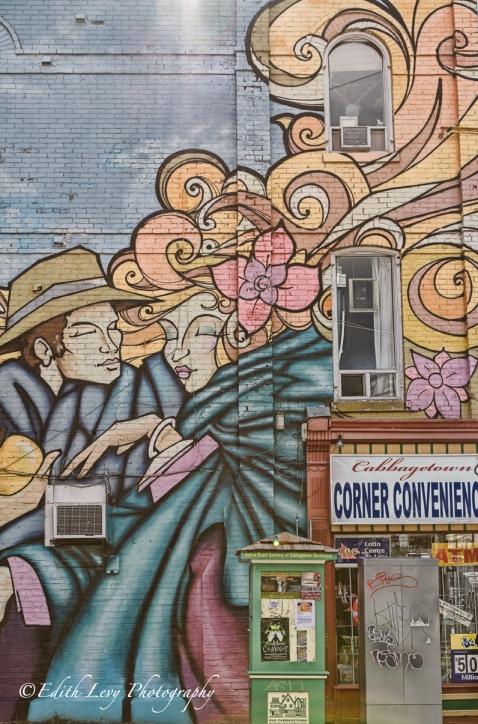 Cabbagetown, Toronto, street art, street photography, graffiti, Ontario, mural