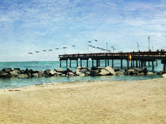 iPhoneography, iPhone, pier, California, DistressedFX, Snapseed, GTCCC,