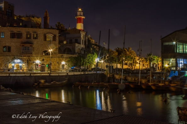 Israel; Old Jaffa; Old Jaffa Port; port; night photography; boats; old town; lighthouse