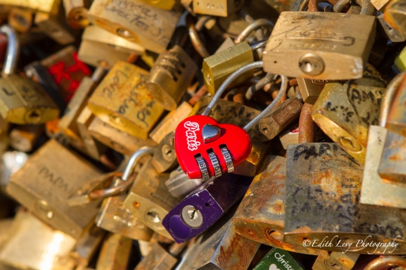 Pont des Arts, Paris, bridge, love locks, seine, river, travel