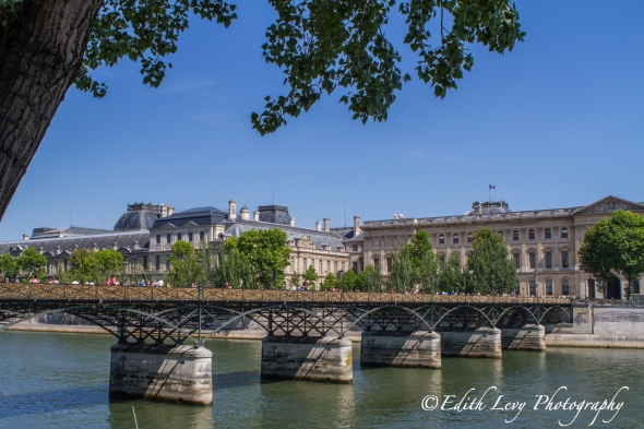 Pont des Arts, Paris, bridge, love locks, seine, river, travel