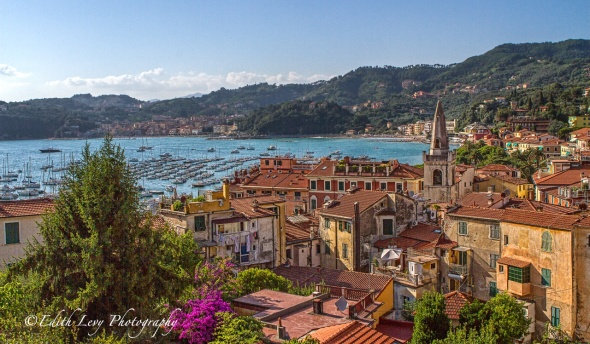 Lerici; Italy; Liguria; harbour; La Spezia; town; Bay of Poets