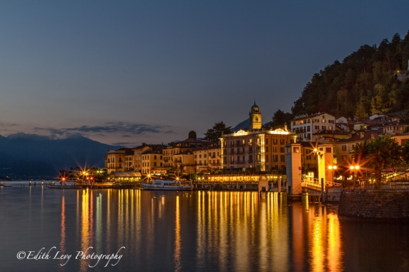 Bellagio, Italy, Lake Como, nightscape, night photography, lights, blue hour, travel photography