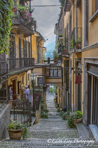 Bellagio, Italy, walkway, street, stairs, village, travel photography