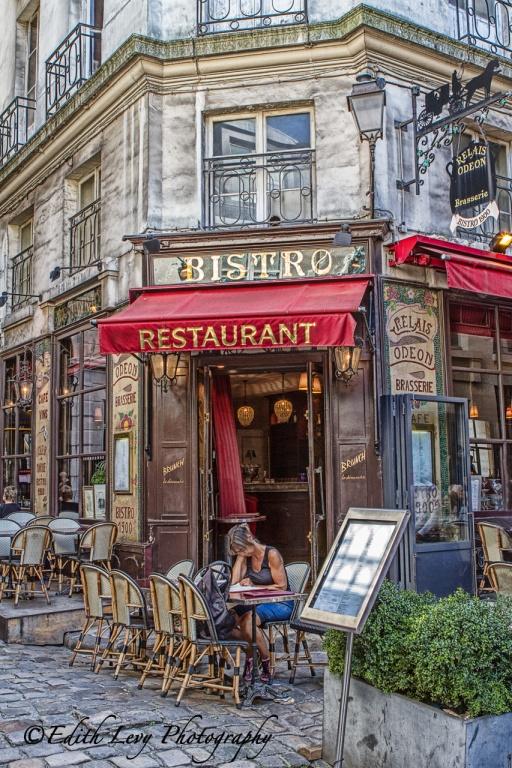Paris, France, bistro, street photography, restaurant, sidewalk cafe