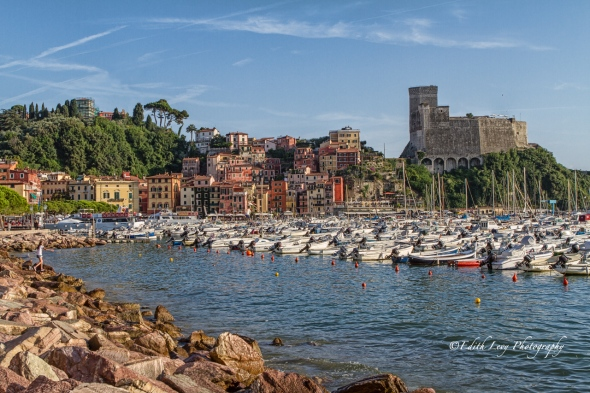 Bay of Poets, Lerici, Liguria, Italy, harbour, boats, castle, travel photography