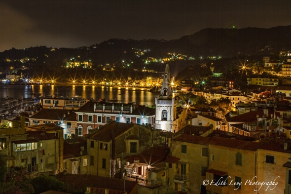 Lerici, Italy, Bay of Poets, night photography, long exposure, travel photography