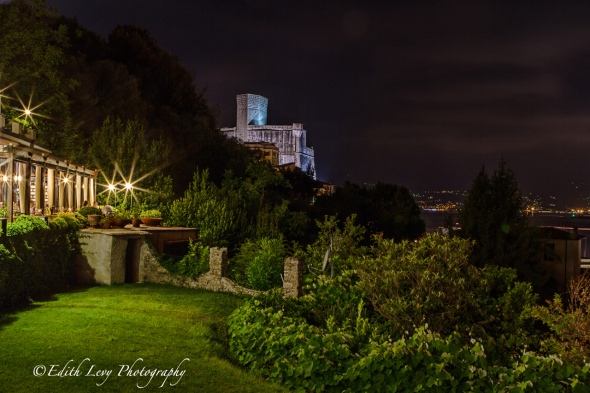 Lerici, Italy, Bay of Poets, night photography, long exposure, travel photography, Sea Castle, Doria Park Hotel