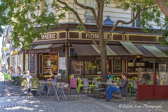 Paris, France, patisserie, street photography, restaurant, sidewalk cafe, travel photography, Tableau Vivant