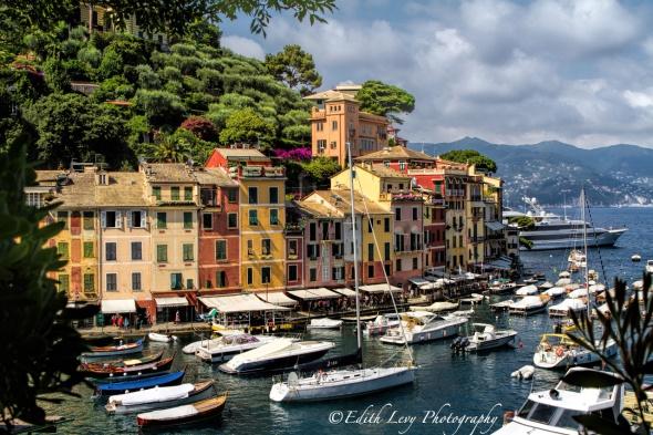 Portofino, Italy, Italian Riviera, boats, sea, vista, landscape, travel photography