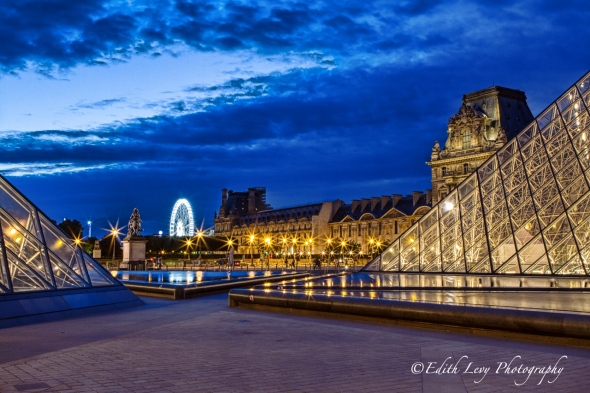 Paris, France, louvre, museum, city of lights, night photography