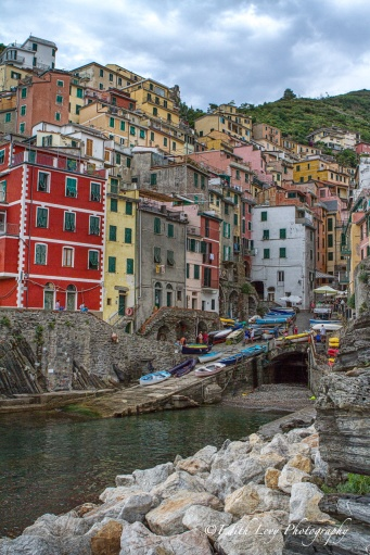Riomaggiore, Cinque Terre, Italy, village, seaside, coloured houses, boats, travel photography