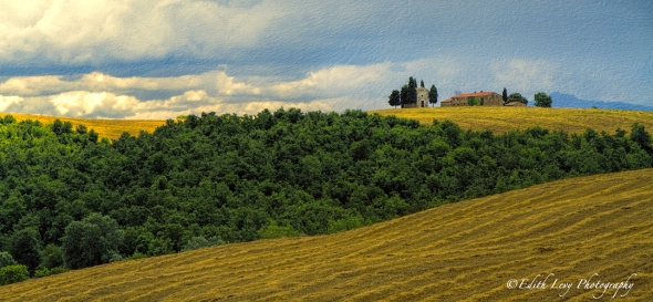 Tuscany, Italy, hill, house, cypress trees, rolling hills, travel photography