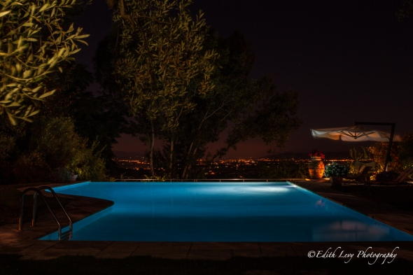 Villa Cicolina, Tuscany, Italy, Montepulciano, travel photography, night photography, infinity pool