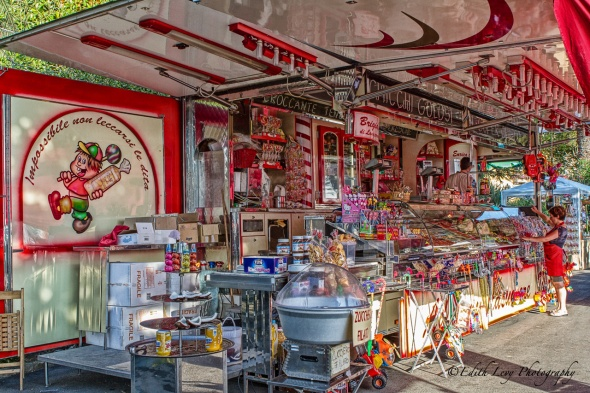 Lerici, Italy, candy store, popping colour, travel photography