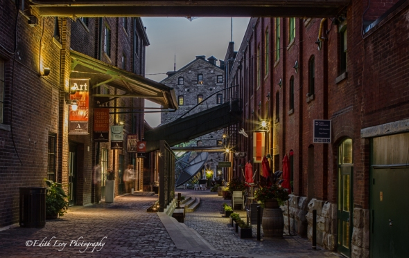 Distillery District, Toronto, downtown, historic, night photography, long exposure