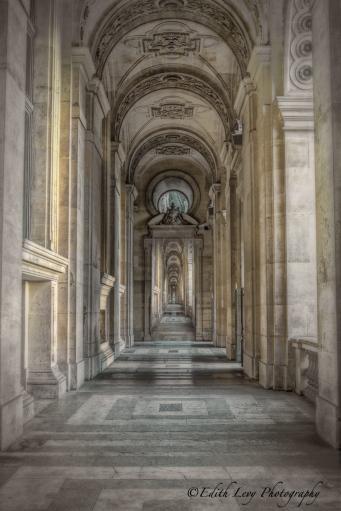 Paris, France, The Louvre, museum, arches, composite, travel