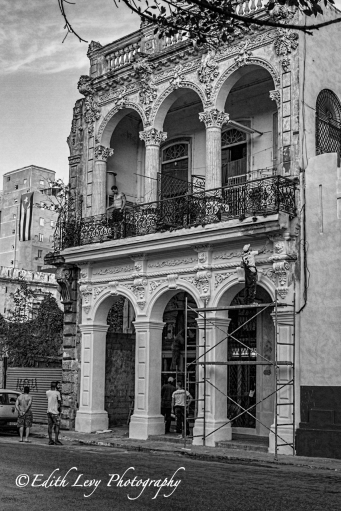 Cuba, Havana, Black & White, Monochrome, city, street, architecture