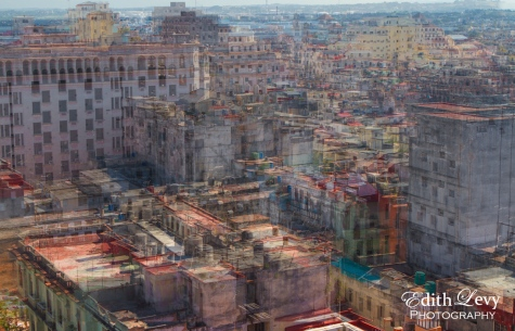 Havana, Cuba, rooftops, multiple exposure, travel photography