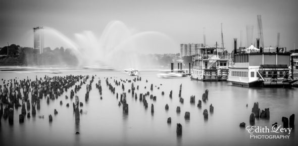 Chelsea Pier, New York, NYC, long exposure, black and white, travel photography