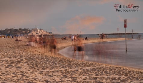 Tel Aviv, Israel, beach, long exposure, sand, sunset, water, Mediterranean sea