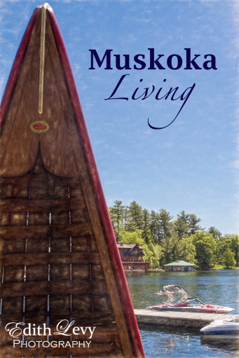 Muskoka, Ontario, Port Carling, canoe, boat, water, cottage, country house, lake, travel poster