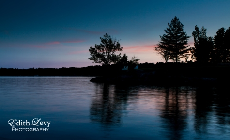 Muskoka, Lake Rosseau, Ontario, lake, sunset, silhouette, trees, landscape