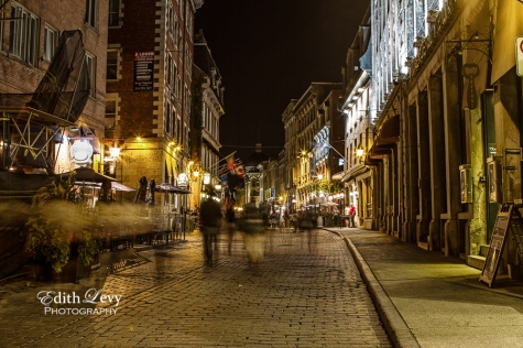Old Montreal, Quebec, night photography, long exposure, historic