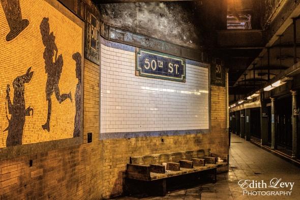New York, Manhattan, NYC, subway, 50th Street, underground, travel, urban