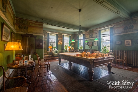 Spadina House, Toronto, billiard room, pool table, estate, historical, interior, architecture