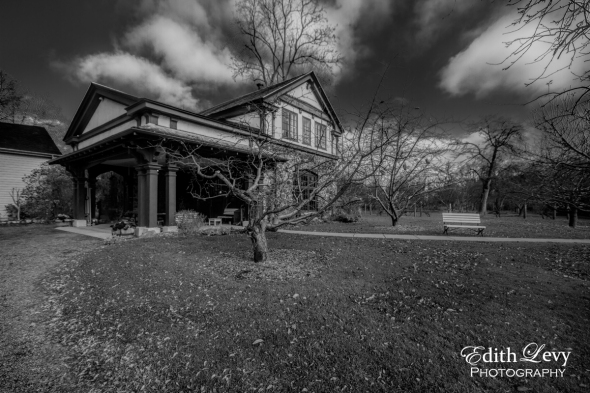 Spadina House, Toronto, Ontario, architecture, garden house, heritage, black and white