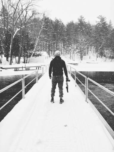Port Carling, Muskoka, Ontario, winter, snow, bridge, photographer, iphoneography, black and white
