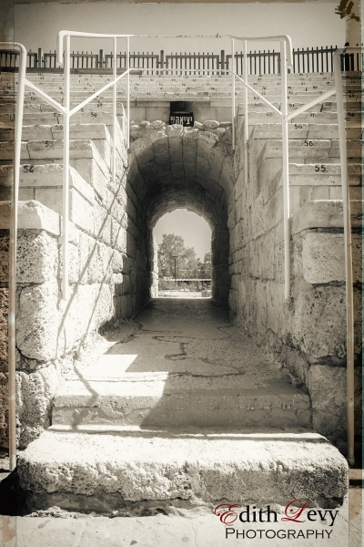 Caesarea, Israel, black and white, Nik Collection, Analog FX, travel photography