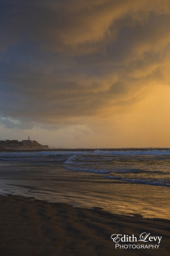 TelAviv, Israel, Jaffa, Old Jaffa, sunset, beach, clouds, travel photography, Mediterranean