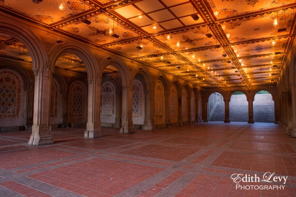 New York, Manhattan, Central Park, Bethesda Terrace, arches, sunrise, travel photography