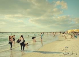 Tel Aviv, Israel, beach, summertime, Gordon Beach, sea, Mediterranean, travel photography