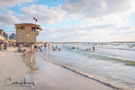 Tel Aviv, Israel, beach, summertime, Gordon Beach, sea, Mediterranean, lifeguard station, travel photography