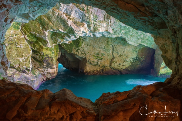 Israel, Rosh Hanikra, grotto, blue, water, long exposure, travel photography, nature