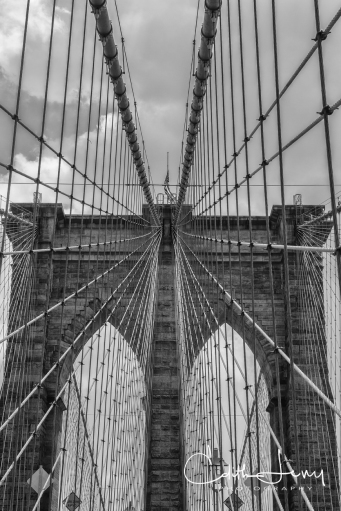 NewYork, Brooklyn Bridge, Black and White, monochrome, travel photography