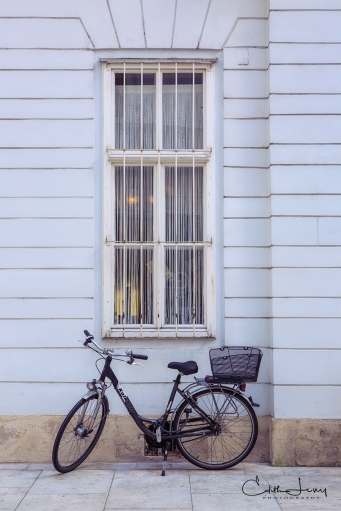 Vienna, Austria, architecture, bicycle, window, travel photography