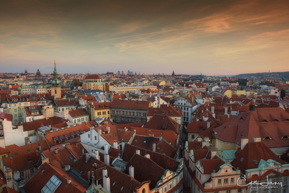 Prague, Czech Republic, Old Town, architecture, travel, sunset, city view, rooftops