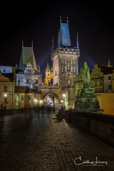 Prague, Czech Republic, Old Town, architecture, Charles Bridge, Night Photography, long exposure