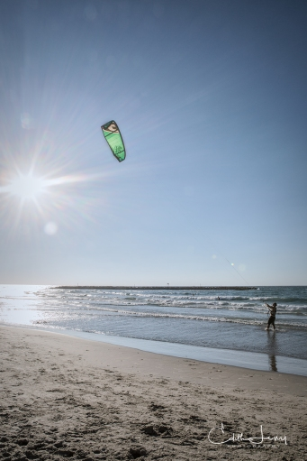Israel, Tel Aviv, beach, surf, kitesurfing, kite boarding, kite board, Banana Beach