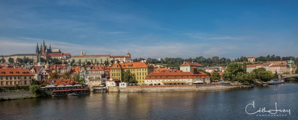 Prague, Czech Republic, Old Town, architecture, Charles Bridge, panorama