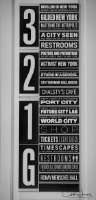 New York, NYC, Museum, Museum of the City of New York, MCNY, Manhattan, black and white, BNW, sign