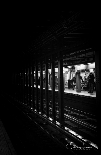 New York, NYC, Manhattan, subway, station, black and white, BNW, monochrome, tableau, 42nd Street